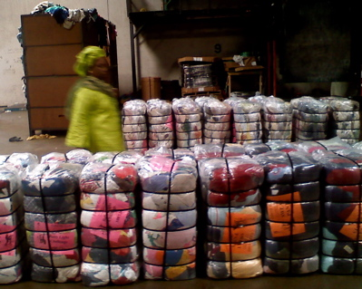 graded used clothing bales